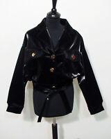 Lack Kurz Jacke Blouson von La Manuel Grösse S Damen neu G385