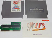 Snoopy's Silly Sports Spectacular Nintendo NES Game Cartridge + Manual Book Rare