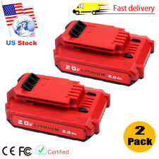 2 Pack 20V MAX Lithium-Ion Battery for Porter Cable PCC685L PCC680L PCC682L 2.0A