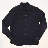 Giorgio Armani Borgo 21 Mens Dress Shirt 14.5/35 Dark Solid Gray Twill Cotton