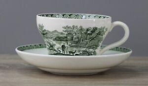 Wedgwood Lugano grün Kaffeetasse Tasse mit Unterteller Untertasse Untere TOP