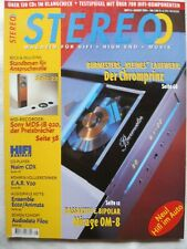 STEREO 8/98,SONY MDS JB 920,NAIM CDX,SYMPHONIC LINE REFERENCE,PIONEER A 407 R