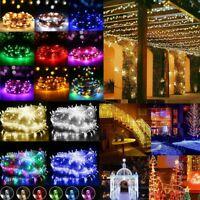 Fairy Light String 10M-200M 100-1000LED Colorful Outdoor Garden Xmas Party Decor