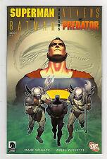 Superman and Batman Versus Aliens and Predator 1 NM+ DC Dark Horse Comics Book