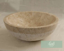 Marble Stone Bathroom basin by Vivid Stone 40cm Diameter 15cm High KCD-C
