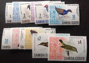 Samoa 1967 birds Full Set Of 12 stamps mint hinged