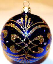 Rödentaler Living Glass  Weihnachtsschmuck 40 Stück Glaskugeln 30 mm hellblau