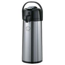 Service Ideas S/S Lined Airpot, Lever Pump, 2.4 Liter Cap., Black Matte Finish