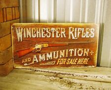 Winchester Rifles and Ammunition For Sale Here Metal Tin Sign Fire Arm Ammo