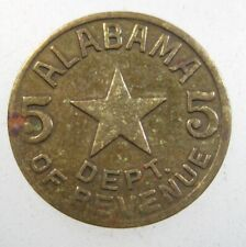 ALABAMA 5 Cents Department of Revenue Sales Tax Star Vintage Token 44# Coin