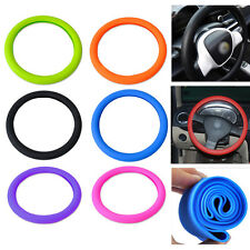 Car Soft Silicone Steering Wheel Cover Protector 36cm 14inch Color : Black