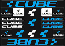 Cube Mountain Bicycle Frame Decals Stickers Graphic Adhesive Set Vinyl Blue