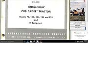 Ihc Cub Cadet Tractor Service Repair Manual Library for the 72 thru 147 models