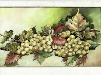 Nature morte aux raisins Aquarelle au format 45x30cm Signée et datée 1999