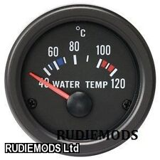 52mm negro resistente al agua de Agua Temp grados C Calibre Ideal Para Kit Car y marinos