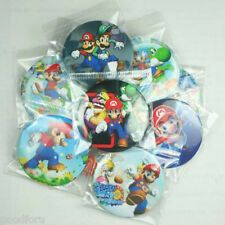 40pcs Super Mario Bros Brothers Pins Buttons Badges Xmas Birthday Party Gifts
