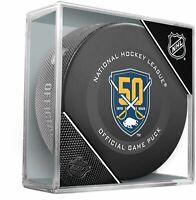 BUFFALO SABRES 50th Anniversary Logo 2019-2020 OFFICIAL NHL GAME PUCK NEW