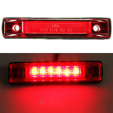 6 LED Clearance Side Marker Light Indicator Lamp Truck Trailer Lorry Pickup Red