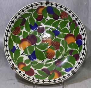 GROßE ART DECO KERAMIK SCHALE - VILLEROY & BOCH - UM 1920