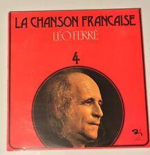 LEO FERRE La Chanson Francaise 4  LP  French LP Barclay