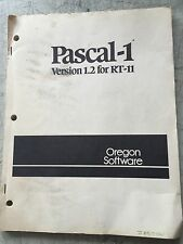 OREGON SOFTWARE PASCAL-1 VERSION 1.2 FOR RT-11
