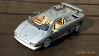1:18 Silver Lamborghini Diablo Rare Silver Color Toy Model Car