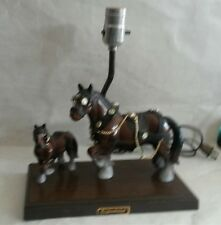 Vintage Budweiser Beer Clydesdales Tablelamp by Gilbert from 1960s Works