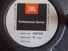 JBL 2402H HF Tweeter Driver - New