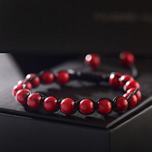3Pcs Tigers Eye Lava Agate Beaded Braid Handmade  Adjust Bracelet For Men Women
