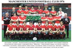 MANCHESTER UTD FC TEAM PRINTS 1970's (70/71/72/73/1974/1975/1976/1977/1978/1979)