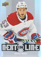 2017-18 Upper Deck Overtime Next In Line #NL-9 Victor Mete Montreal Canadiens