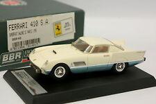 BBR 1/43 - Ferrari 410 SA Superfast Salon Paris 1956 Blanche et Bleue