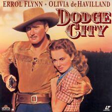 DODGE CITY NTSC LASERDISC Errol Flynn, Olivia de Havilland, Ann Sheridan