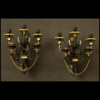 PAIRE DE GRANDES APPLIQUES A L'ETRUSQUE XIXème - PAIR OF LARGE WALL LIGHTS STYLE