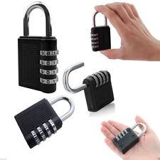 4 Digit Combination Padlock Number Luggage Travel Code Lock Black NEW