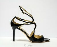 New in Box Jimmy Choo Ladies Black Patent Leather Ievette Size 42