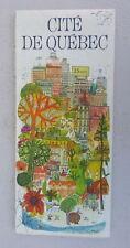 1969 Cite De Quebec street map Esso oil  gas Imperial Canada Quebec City
