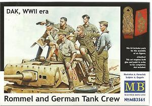 MB Rommel Et Allemand Tank Ras, Dak 2nd Guerre Mondiale Era 1/35 35 61 St Sh