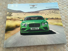 BENTLEY CONTINENTAL GT GTC W12 SPEED PRESTIGE HARDBOUND BOOK BROCHURE 2017 USA