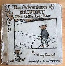 MARY TOURTEL ADVENTURES OF RUPERT LITTLE LOST BEAR pub Nelson 1921