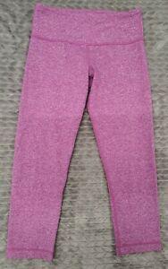 LULULEMON Women's Heather Pink Wunder Under Capri Legging Pant Sz 4