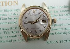ROLEX 14K Gold Oyster Perpetual 1503 Silver DIAL 34MM 1570 Caliber Movement