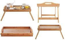 NUOVO portatile in legno gambe pieghevoli cibo in Bambù che serve colazione a letto Lap Vassoio