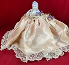 Antique Elegant Victorian Porcelain Half Doll Pincushion 6 Inches Tall Pre-Owned