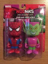 Marvel Universe Funko Nodniks Bobble heads Spider-man & Green Goblin, MISP