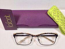 New Jean Lafont Pulsion Color 380 Black/ Leopard Eyeglasses  Size 53-17-128