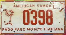 AMERICA  SAMOA South Pacific License Plate