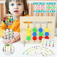 Wooden Fruit Logic Game Training Early Educational Toys for Kids Toddler