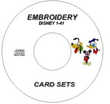 NEW DISNEY CHARACTER EMBROIDERY SETS 1 TO 41 BROTHER  PES FORMAT ON CD