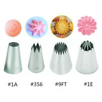 4Pcs Big Cream Icing Piping Nozzles Cake Baking Stainless Steel Decorating Tips
